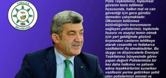 Başkan Yiğit'in 10 Nisan Polis Haftası Kutlama Mesajı