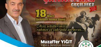 BAŞKAN YİĞİT'İN 18 MART ŞEHİTLERİ ANMA GÜNÜ VE ÇANAKKALE DENİZ ZAFERİ KUTLAMA MESAJI